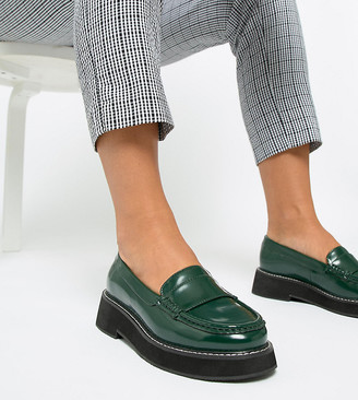 Asos Design DESIGN Wide Fit Mastery chunky loafer flat shoes