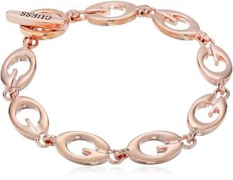 """GUESS Basic"""" Rose Gold G Link Bracelet"""