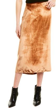 Vince Panne Silk-Blend Wrap Skirt