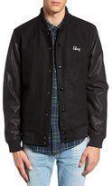 Obey Soto Collegiate Mixed Media Jacket