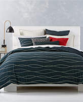 Hotel Collection Modern Wave Cotton Duvet Covers, Created for Macy's