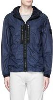 Stone Island Iridescent nylon hooded jacket