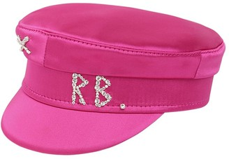Ruslan Baginskiy Baker Boy Satin Hat W/crystal
