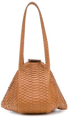 Rodo Crocodile-Effect Tote Bag