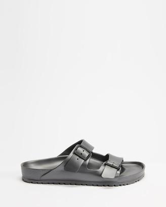 Birkenstock Grey Flat Sandals - Arizona EVA - Unisex - Size 41 at The Iconic