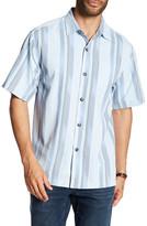 Tommy Bahama Rumway Original Fit Stripe Short Sleeve Shirt