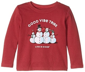 Life is Good Good Vibe Tribe Long Sleeve Crusher Tee (Toddler)
