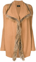 Liu Jo ribbed fur cardigan