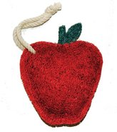Loofah-Art Natural Kitchen and Household Scrubber, Red Apple