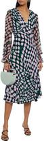 Thumbnail for your product : Diane von Furstenberg Idris Chiffon-paneled Printed Crepe Midi Dress
