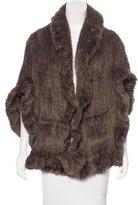 Sylvie Schimmel Knit Mink Poncho