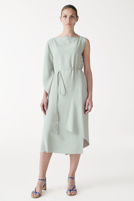 Cos Recycled Polyester Draped Dress