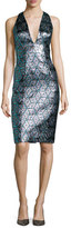 Milly Callie Sleeveless Jacquard Cocktail Dress, Multicolor