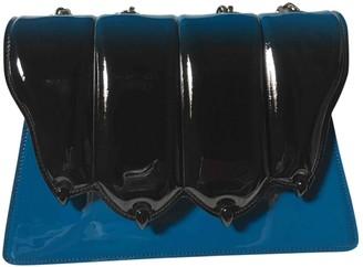 Marco De Vincenzo \N Blue Patent leather Handbags
