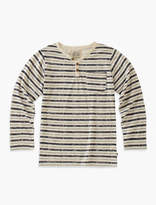 Lucky Brand Long Sleeve Striped Y-neck Henley