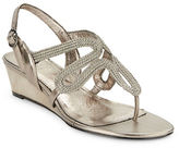 Adrianna Papell Carli Textured Leather Sandal Wedges