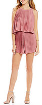 Lovers + Friends Nicki Pleated Popover Romper
