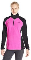 Columbia Women's Tested Tough in Pink Fleece Quarter-Zip Pullover