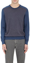 Luciano Barbera MEN'S CHEVRON CASHMERE-SILK SWEATER
