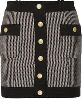 Pierre Balmain Cotton-blend tweed mini skirt