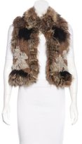 Elizabeth and James Fox-Trimmed Fur Vest