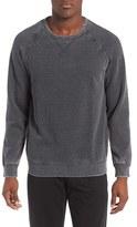 Daniel Buchler Men's Washed Cotton Blend Long Sleeve Crewneck T-Shirt