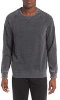 Daniel Buchler Washed Cotton Blend Long Sleeve Crewneck T-Shirt