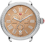 Michele Stainless Steel Chronograph Diamond-Encrusted Watch Head