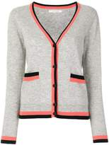 Chinti and Parker Stripe Trim Cardigan