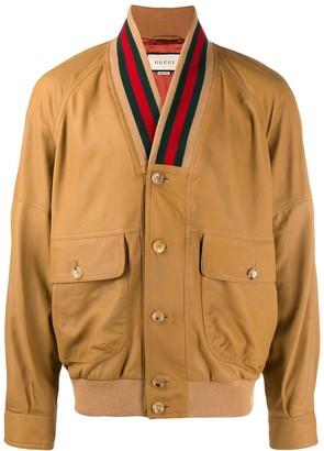 Gucci Web collar jacket
