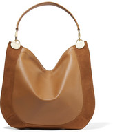 Diane von Furstenberg Moon Suede-trimmed Leather Shoulder Bag - Tan