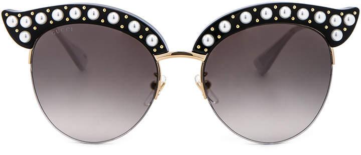 659518fda695e Gucci Pearl Sunglasses - ShopStyle