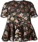 Alexander McQueen floral blouse - women - Polyester/Silk/Polyamide - 40