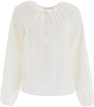 See by Chloe Button-Up Rouched Blouse