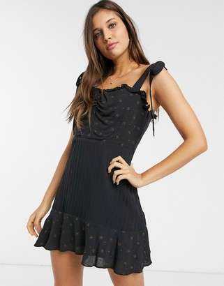 Stevie May Celeste star embroidered mini dress