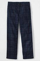 Classic Boys Slim Iron Knee Plaid Cadet Pants-Gray Heather Tar Pits