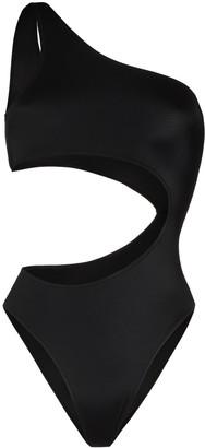 Fantabody One-Shoulder Cut-Out Bodysuit
