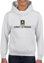 Xekia Army Strong US Army Men Army Wives Hoodie For Girls and Boys Youth Kids