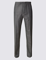 M&S Collection Grey Tailored Fit Trousers