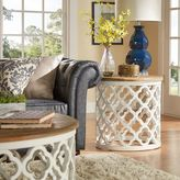 Verona Home Tansey Reclaimed Wood Quatrefoil Accent Table