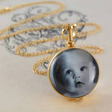 Otis Jaxon Silver Jewellery Gold Vintage Round Double Sided Locket Necklace