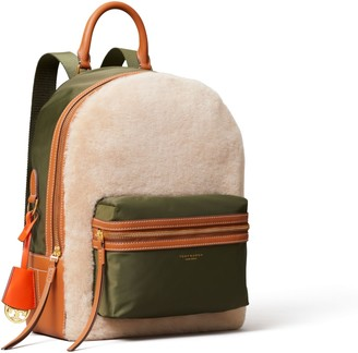 Tory Burch Perry Shearling Backpack