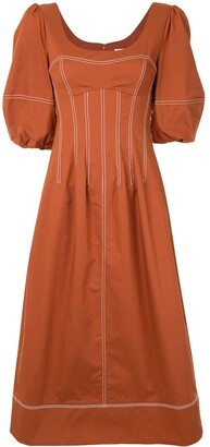 Jonathan Simkhai Lena puff-sleeve dress