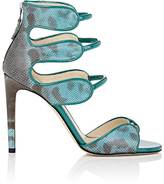 Chloe Gosselin CHLOE GOSSELIN WOMEN'S LARKSPUR SNAKESKIN & PATENT LEATHER SANDALS