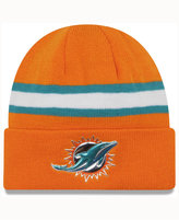 New Era Miami Dolphins On-Field Color Rush Pom Knit