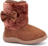Coffee Side Bow Boot