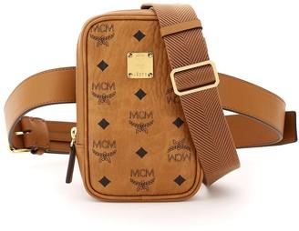 MCM Logo Print Mini Belt Bag