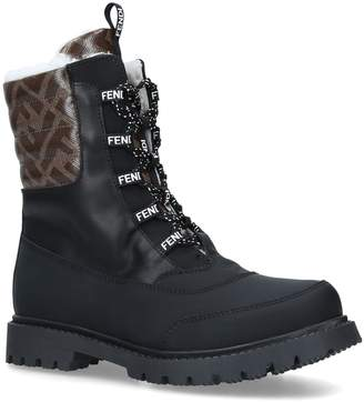 Fendi Leather Winter Boots