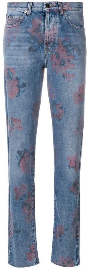 Saint Laurent floral print jeans