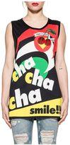 Dolce & Gabbana Black Musical Print Tank Top